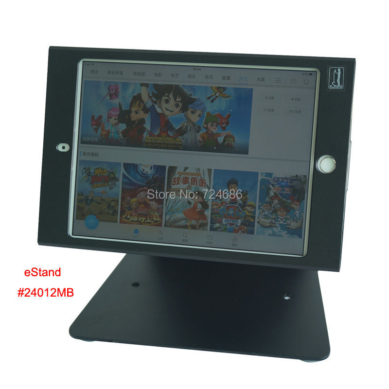 for mini ipad table security stand with anti-theft enclosure display kiosk POS , fix on desktop or countertop hotel or bank(China (Mainland))
