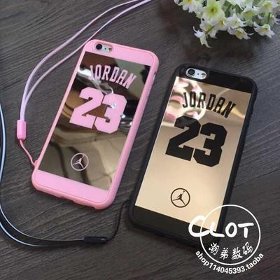 Famous Brand Michael Jordan 23 PC Hard Mirror Cases Cover for iPhone 6 6S with Lanyard(China (Mainland))