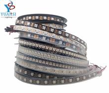 1m 2m 3m 4m 5m ws2812b ws2812 led strip,individually addressable smart led strip,black/white pcb waterproof ip30/65/67 dc 5v(China (Mainland))