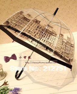 England Style Transparent Long-Handled Semiautomatic Umbrella Spring 2015 9 Style