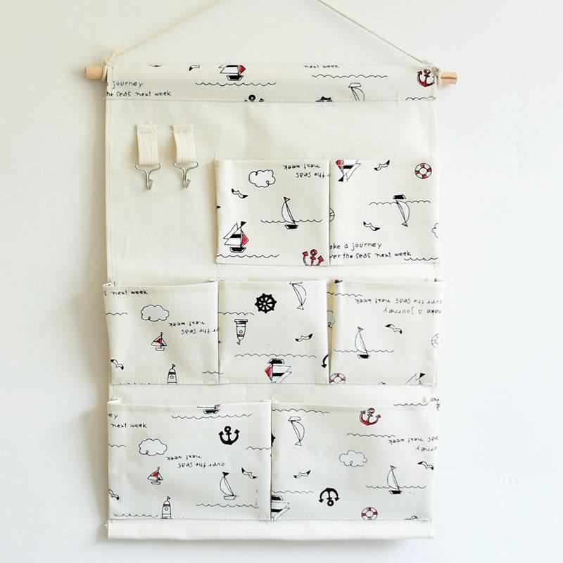 ZAKKA Multi-function Folding Door Hanging Bag Makeup Sundries Storage Bag 7 Pocket(China (Mainland))