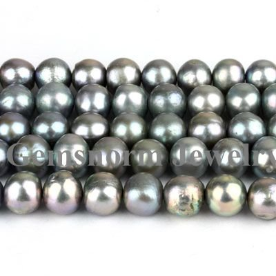 AAA 9-10mm Gray Freshwater Pearls 16 Length Loose Pearls Strands Fashion Pearls Jewelry Beads Free Shipping<br>