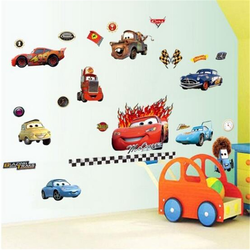 QT-0153 Car 3D Sticker Baby Wall Stickers For Kids Bedroom General Mobilization Wall Stikers For Kids Room Home Decor(China (Mainland))