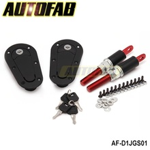 AUTOFAB - D1 JDM Plus Flush Hood Latch and Pin Kit Racing Latch Locks Locking Hood Kit AF-D1JGS01(China (Mainland))