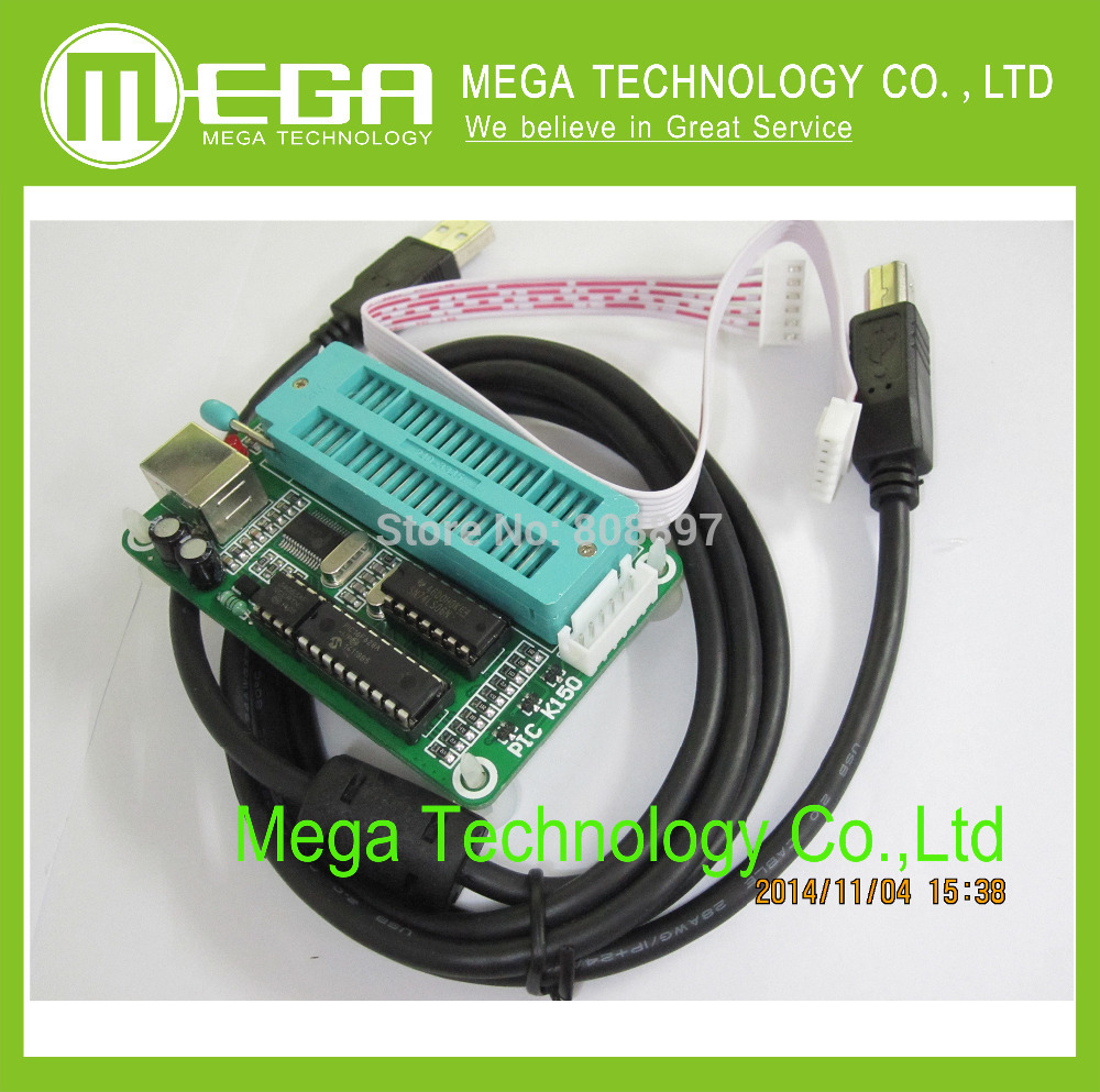 1PCS,PIC K150 ICSP Programmer USB Automatic Programming Develop Microcontroller + USB ICSP cable(China (Mainland))