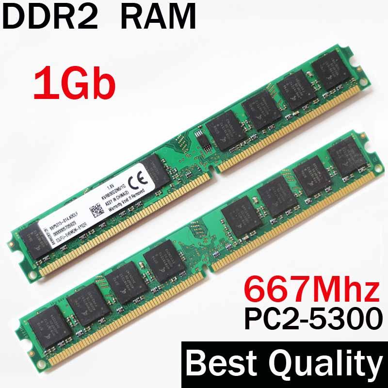 RAM 1Gb DDR2 667 / 667Mhz ddr2 RAM 1gb / For AMD - for all memoria ddr2 1gb ram single dual channel/ ddr 2 memory RAM PC2- 5300(China (Mainland))