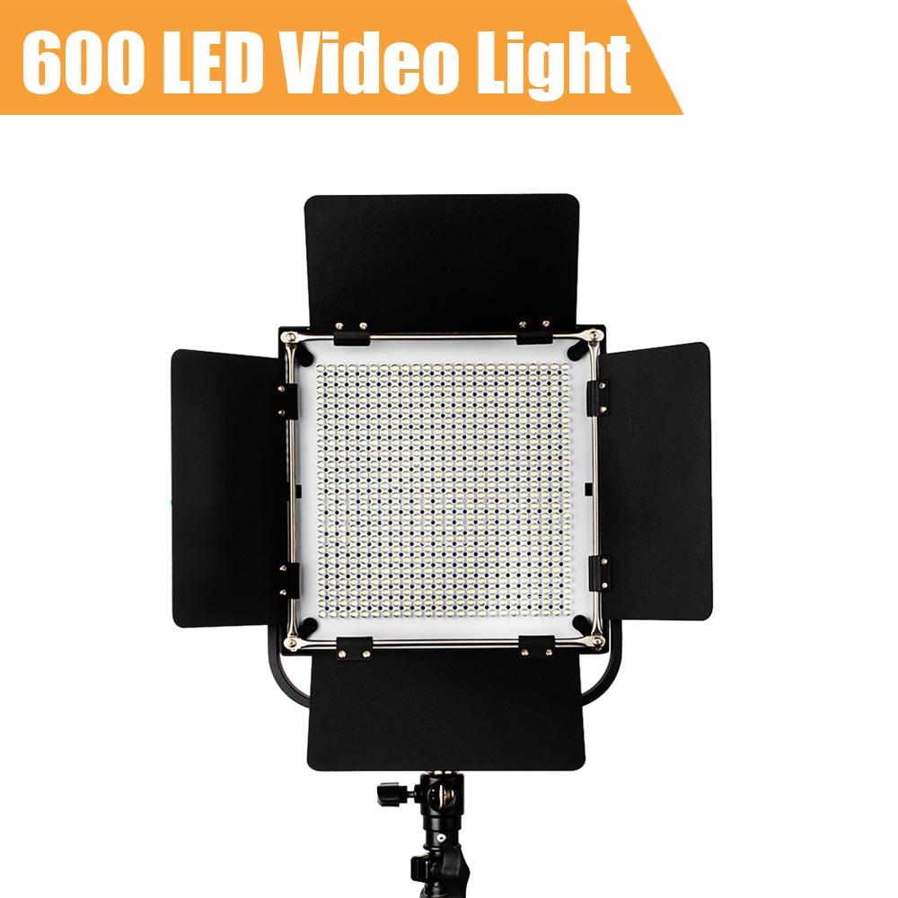 576 PCS Led Video Studio Camera Photo Light High CRI Lumen 4500lm w Orange White Filters + Sun Shade Barn Door(China (Mainland))
