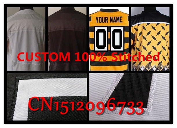 2015 NEW Cheap Customized Steelers jersey,American Football custom 100% Stitched Authentic Mens personalized Elite black white(China (Mainland))