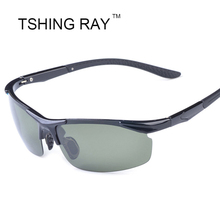 Sport Car Driving Polarized Sunglasses Men Fashion Cool Half Frame TR90 Sun Glasses Light-Weight Male Driver Night Vision(China (Mainland))