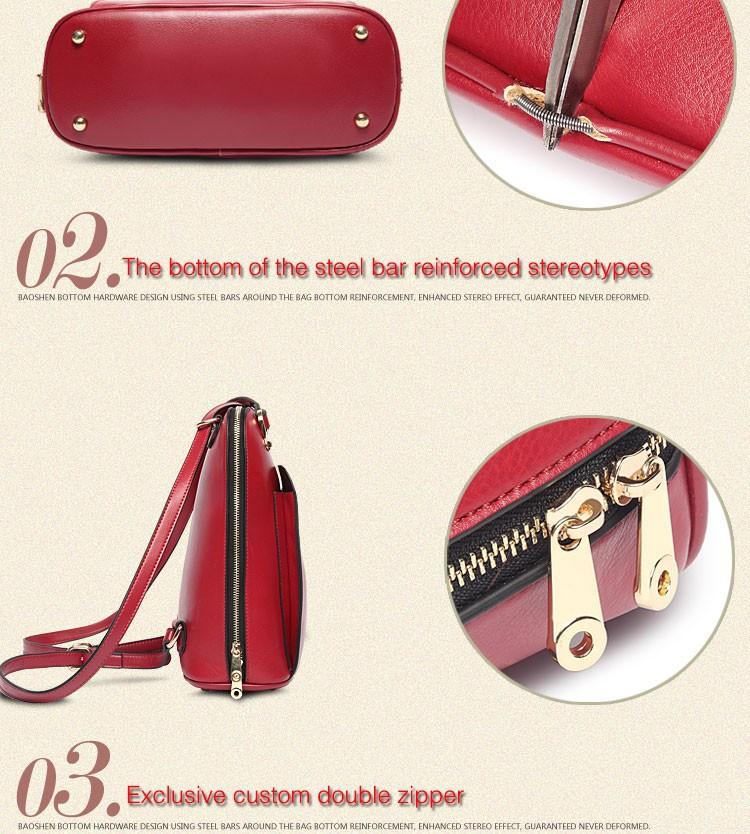 2015  Fashion Korean Version PU Leather Backpack Women Backpacks