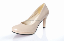 The new Woman shoes waterproof heels black work shoes red white bridal wedding shoes h153(China (Mainland))