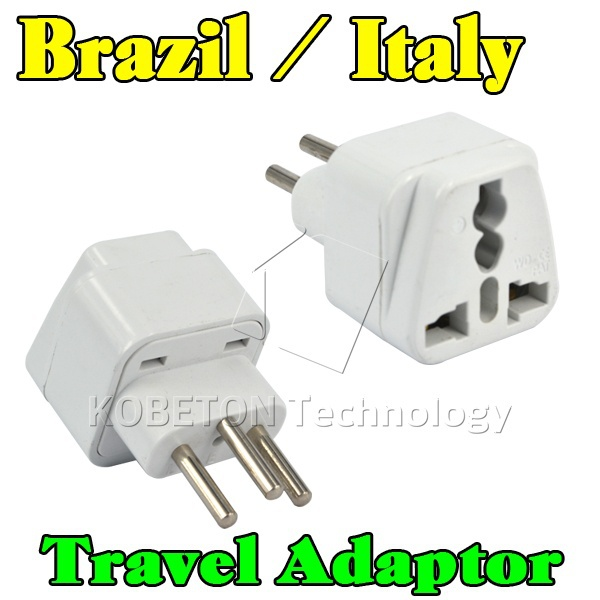 Portable Wall Charger EU AU US UK to Brazil Italy Universal 3 Round Pin Home Household Travel Adapter AC Power Plug Converter(China (Mainland))