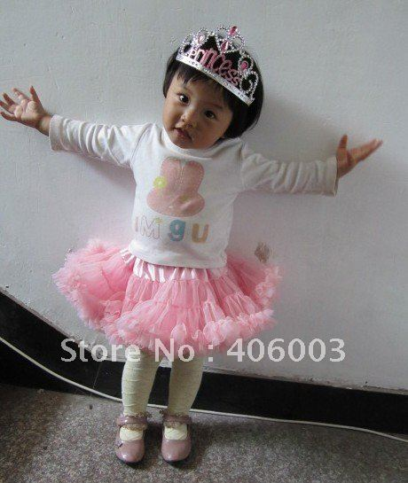 3set/lot free shipping pink fluffy baby pettiskirt with big bow<br><br>Aliexpress