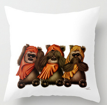 Free shipping STAR WARS The Three Wise Ewoks (two sides) Pillow Cases  for12x12 14×14 16×16 18×18 20×20 24×24 inch