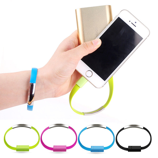 Micro USB Cable Bracelet Data Charging Line Wristband For Android Cellphone(China (Mainland))