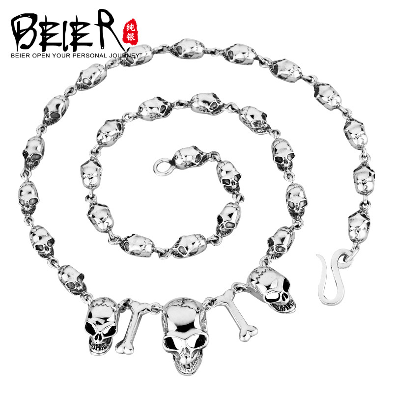 Super Quality 925S Sterling Silver Mens Match Necklace Chain For Man Woman Personality Vintage Jewelry BR925XL022<br><br>Aliexpress