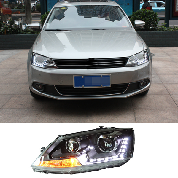 Car Styling LED Light Guiding Design Headlights Head Lamp