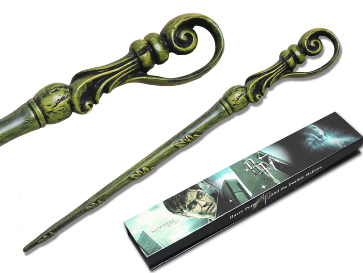 harry potter cosplay magic wand fleur delacour wand 36 cm green colors resinous non luminous. Black Bedroom Furniture Sets. Home Design Ideas