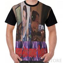 Di Modo di estate degli uomini ha stampato t shirt donna top tees Cornuto Skaven Graphic T-Shirt divertente magliette A Manica Corta(China)