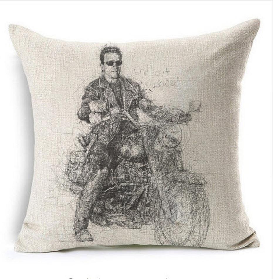 Tough guy terminator Arnold Schwarzenegger Bedding Throw Emoji Body Neck Pillow Case Cover Massage Decorative Pillows Home Gift(China (Mainland))