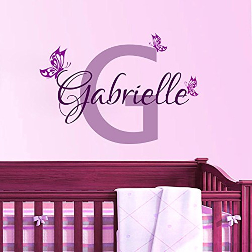personalized butterfly name vinyl wall art decal home