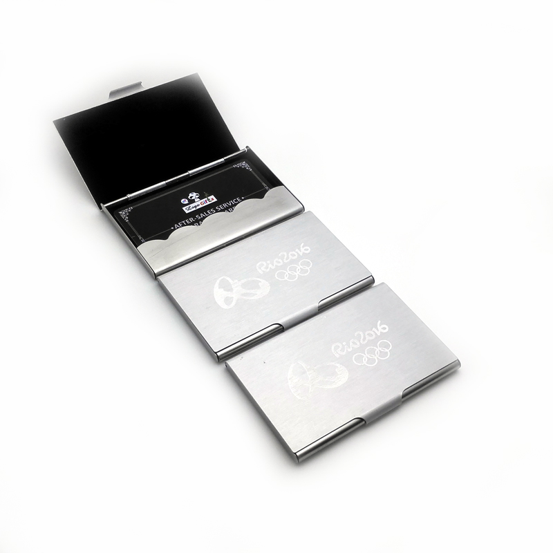 Super cheap personalized Business card holders custom with company website contact info and email for business promotions(China (Mainland))