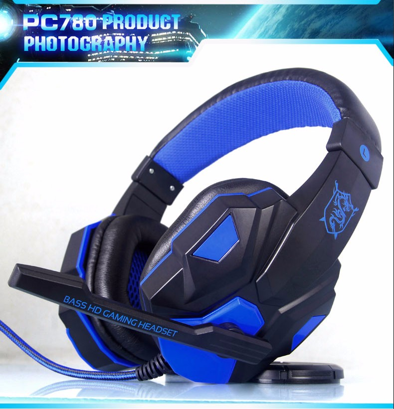 PLEXTONE PC780 PC Gaming Headset Big Glowing Headphones with Microphone for Computer Subwoofer Stereo Universal Wired Earphone