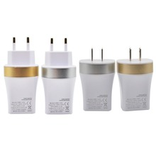 new hot EU/US Plug High Quality USB Power Adapter AC Home Wall Charger Silver/Golden(China (Mainland))