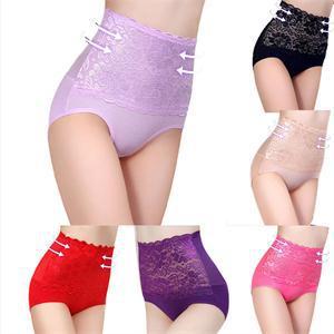 6Colors Sexy Women Lace Panties Fashion Designer Body Shaper Hip Abdomen Tummy Control Briefs High Waist