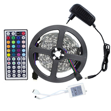 Buy 5M Led Strip Light Kit 5050 Non-waterproof RGB+DC Connect/IR Remote Controller+12V 2A Power Supply Flexible Ribbon Led Tape for $7.70 in AliExpress store