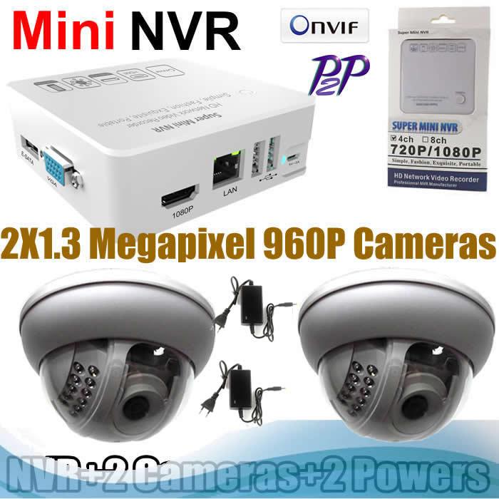 ONVIF CCTV HDMI NVR KITS 960P ip cameras 22pcs IR leds Surveillance System(China (Mainland))