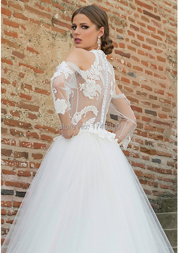 Europe style transparent sexy ball gown tulle wedding for Wedding dresses in europe
