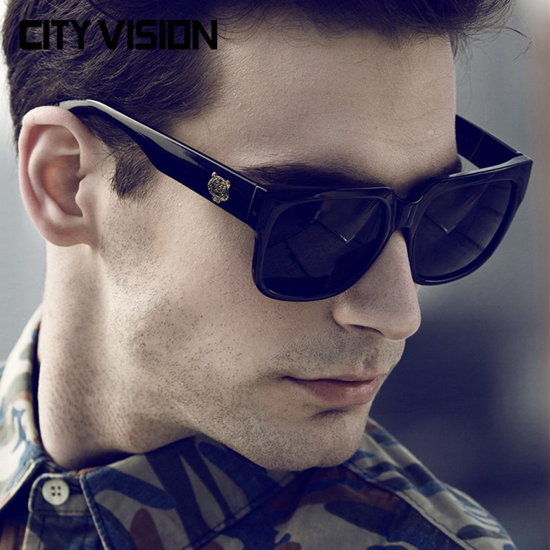 2016 Fashion Sunglasses for Men UV400 Eyewear Male Classical glasses Retro points sun Glasses Coating Shades Outdoor Sunglass(China (Mainland))