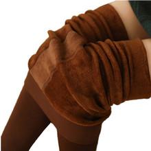 Зима 8 Цвета S-XL Женская Мода Бархат Теплые Леггинсы Хлопок Высокая Талия Спандекс Толстые Гетры Женщин(China (Mainland))