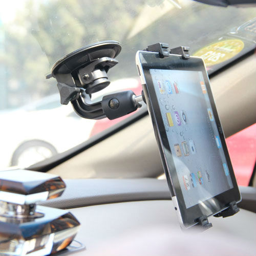 Universal Car Cradle Bracket Clip Windshield Stand iPad 2 3 4 Mini Tablet PC Holder Rotating 360 Degree Support GPS/DVD - atolla Official Store store