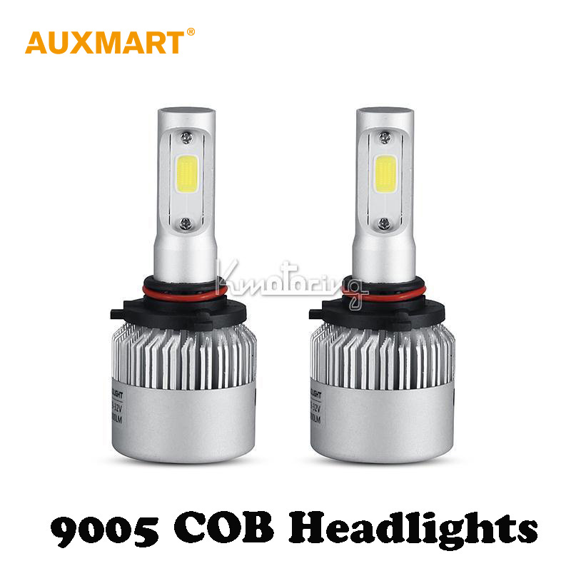 Auxmart 9005 72W COB LED Car Headlight Bulb Single beam Pure White 6500K 8000LM Driving Light All In One Fog Head lamps 12v 24v(China (Mainland))