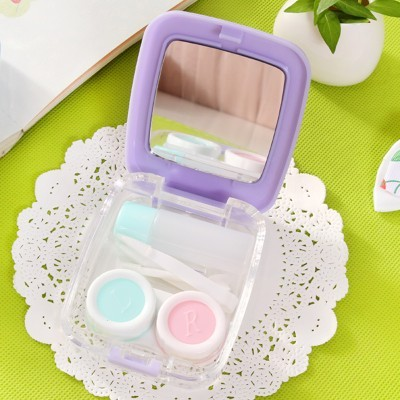 (red) US-pupil contact lens case care children's picture box select Transport speed(China (Mainland))