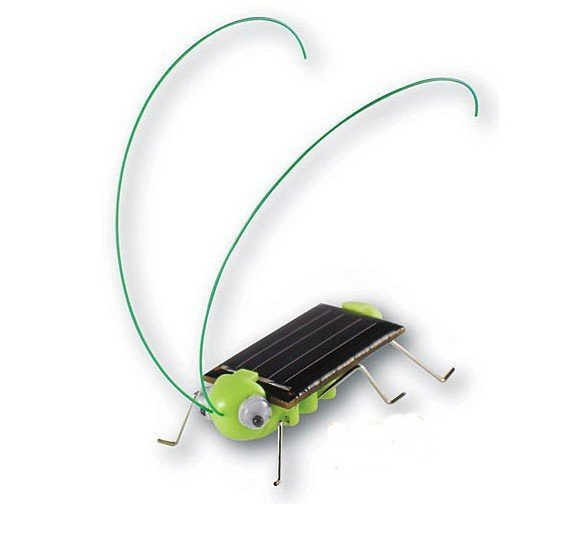 Solar Toy, Solar Grasshopper,Green gift,Solar Powered Grasshopper 50pcs/lot