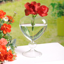 Bestselling Flower pots planters heart glass vase home decoration flower vase desktop vase decorative  glass wedding decoration(China (Mainland))