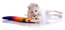 Funny cats stick kitten sisal stratcher toy fish style big size(China (Mainland))