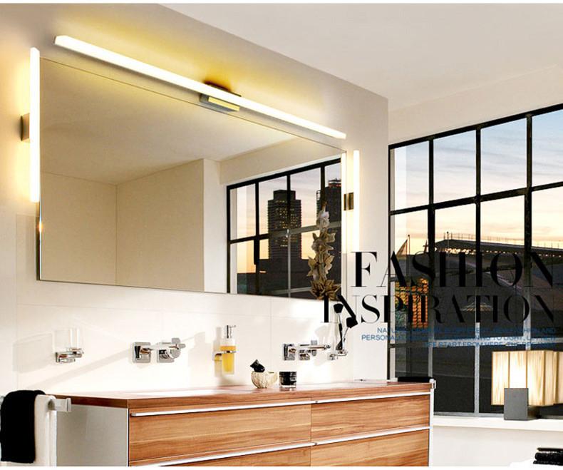 1200mm long bathroom mirror light 85 265v 16w led bedroom mirror lamp