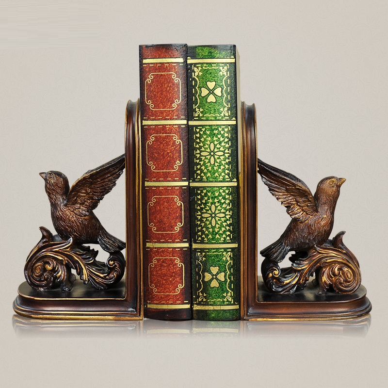 EC DAILY office home craft ornaments Swallow book by bookends books decoration gift ideas resin FREE SHIPPING(China (Mainland))