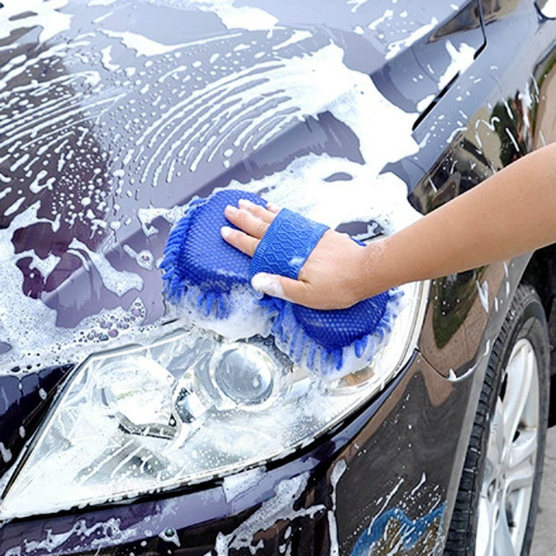 Hot New Ultrafine Fiber Chenille Anthozoan Car Wash Gloves Car Washer Supplies free shipping(China (Mainland))