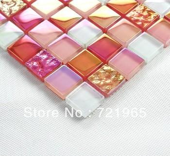 Decor mesh glass mosaic stainless steel mosaic tiles SSMT020 plating glass mosaic tile backsplash stainless steel glass mosaics