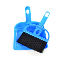 mini plastic hand brush and dustpan set table brooms and dustpan set for computer auto free shipping color random(China (Mainland))