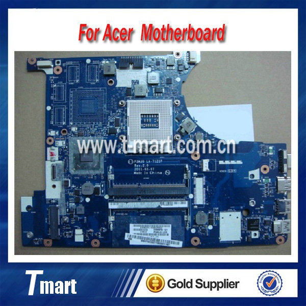 100% working Laptop Motherboard for ACER P3MJ0 LA-7121P 3830 3830T HM65 System Board fully tested
