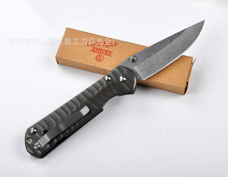 Buy Hot selling CR Stainless steel handle  440C blade 58HRC folding knife outdoor camping survival tool gift Tactical knives cheap