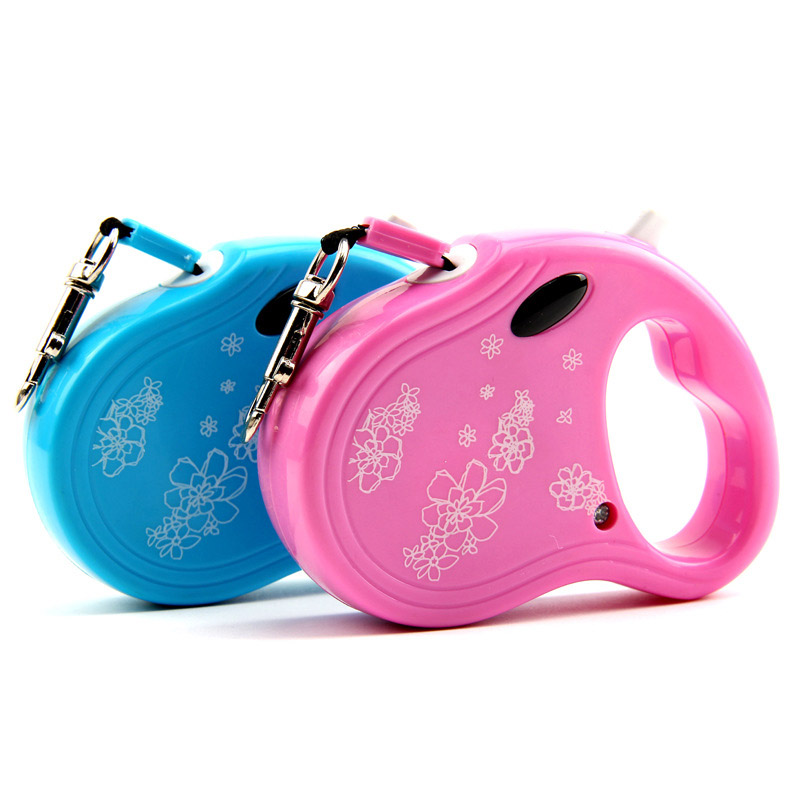 Гаджет  New Automatic Dog Leash Cheap Lead Strap Flexible Rope Retractable Traction Belt Control Flower Cats Pets Products 3 M Pink Blue None Дом и Сад
