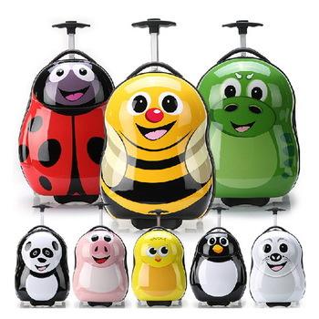 "16 inch"" inch Cartoon New 2014 Kids Trolley School Bag Fashion Children ABS+PC Wheels Travel Bags"""