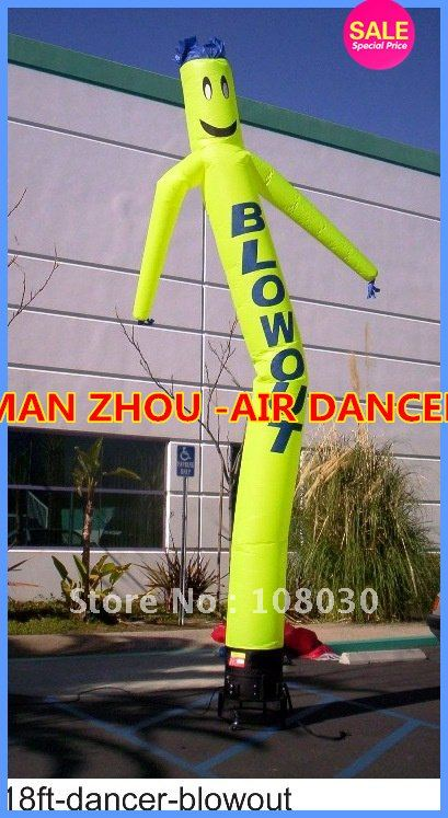 +Contains star blower Free shipping Wholesale quality can be customized with the diversity 16.5' height sky dancer blower(China (Mainland))